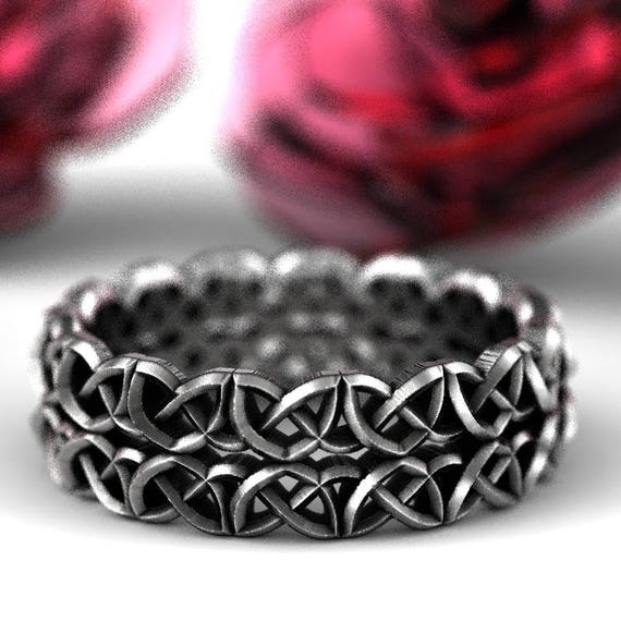 Celtic Ring With Dara Knot Design in Sterling Silver, Made in Your Size CR-638