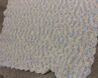 Crocheted Variegated Baby Blanket