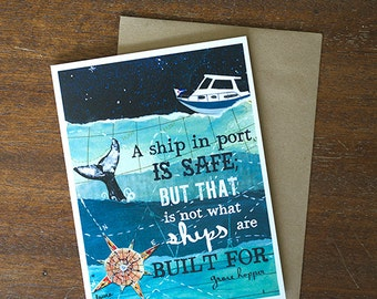 Greeting Card - inspiration encouragement congratulations quote - by Paper Taxi