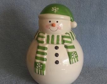 Cookie Jar - Treat Jar - Snowman Theme