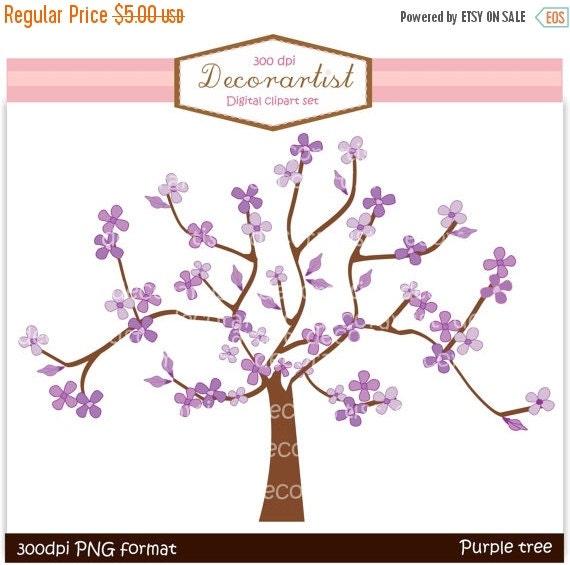 on sale tree clip art purple tree and butterflies instant download rh etsystudio com Teal Tree Clip Art Purple Tree Drawing