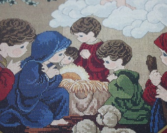 Precious Moments Chapel Series Cross Stitch Booklet Come Let Us Adore Him PMC-1 Designs By Gloria & Pat Nativity Christmas 12 pages USED