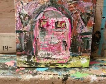 Door. Mixed media. Art. Home decor.