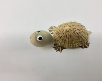 Vintage Turtle Made of Shells, Collectable from Japan