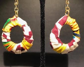 Kente Hoop Earrings