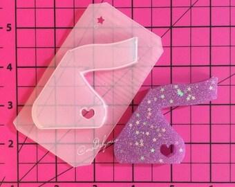 ON SALE SALE!! Chocolate kiss flexible plastic resin mold