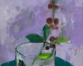 Raspberries in Glass
