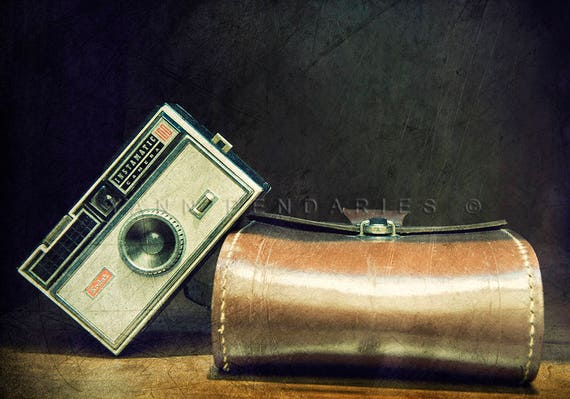 Fine art photography, Kodak vintage camera, Vintage Camera Art, French art, vintage camera art, vintage colors, Brown decor