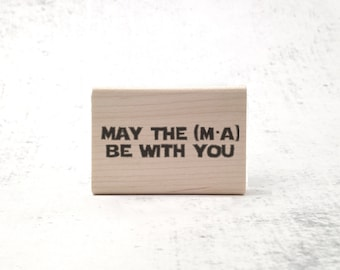 The Force Physics Stamp - Jedi Inspired Physics and Math Stamp - Inspirational Teacher's Grading Stamp