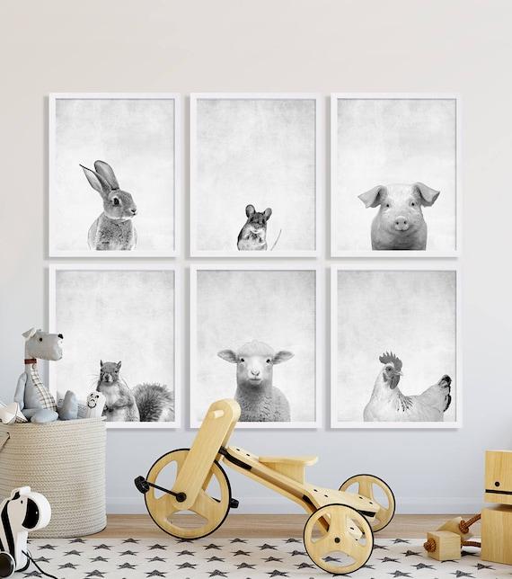 Modern Nursery Ideas: Animal Nursery Prints Large Nursery Art Modern Nursery Decor