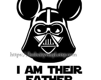 Star Wars I am Their Father Vinyl DIY IRON ON