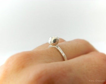Sterling Silver Ring, Promise Ring, Solitaire Ring, Silver Ring, Stacking Ring, Dainty Ring, Minimalist Ring, Simple Ring