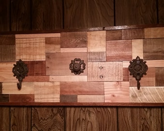 "Handcrafted Coat Rack from Appalachian woods willing to customize 12.75"" x 31"""