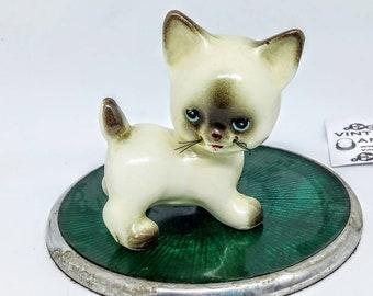 Kitsch 1950s ceramic cat, vintage cat ornament, 1950s cat ornament, kitten figurine, vintage kitsch, kitsch, cat figurine, vintage kawaii