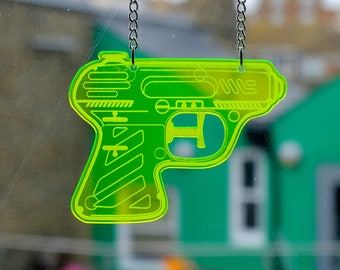 Water Pistol Necklace - Space Pistol - (Range of colours)