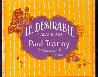 1920's French Soap Label - Le Desirable - Paul Tranoy - Art Deco