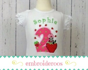 Strawberry Shortcake! Birthday Shirt or Onesie