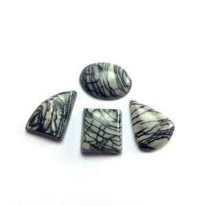 Zebra jasper cabochons gemstone 20 to 25mm