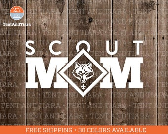 Cub Scout Mom - Vinyl Decal, Car Decal, Laptop Decal, Water Bottle Decal, Bumper Sticker, Yeti Decal, Cub Scout, Scout Leader Gift, Scouting