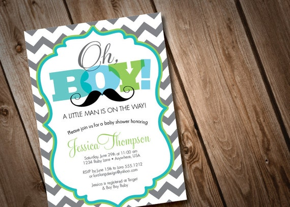 Printable digital oh boy mustache baby shower invitation like this item filmwisefo Image collections
