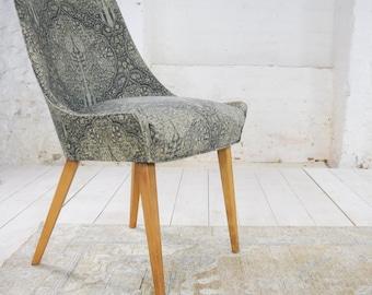 Vintage faded Tabriz rug, terracotta