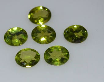 7X9  Natural Oval Peridot  Faceted High Quality Gemstone