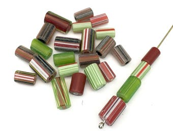 25 furnace glass beads, 10mm to 14mm # PV010