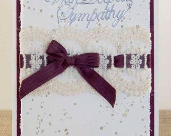 Sympathy Card, Elegant Sympathy card, Handcrafted card, Greeting Card, Handmade card, Woman Sympathy card, With Deepest Sympathy