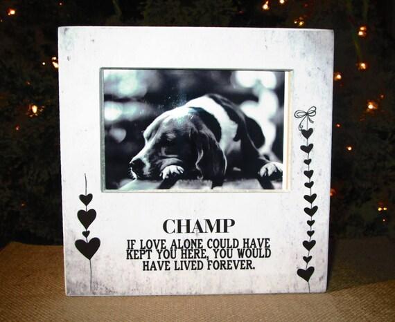 Pet Loss Pet Memory Personalized Picture Frame Pet Memorial