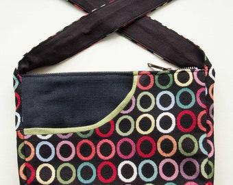 Hobo Crossbody geocercles multio 2 fabric for women