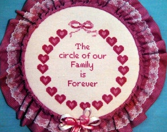 Circle Of Our Family By Patricia Ann Vintage Cross Stitch Pattern Packet 1987