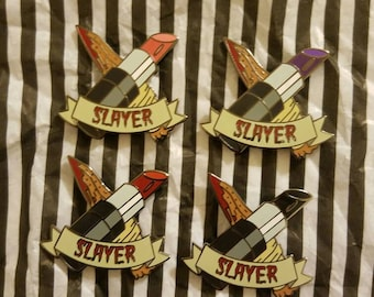 1.5 inch slayer hard enamel pin