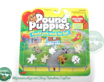 MOC Vintage Pound Puppies Miniatures for Playsets by Galoob Unopened NOS