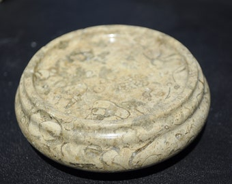 Restored Vintage Fossil Jasper Trivet