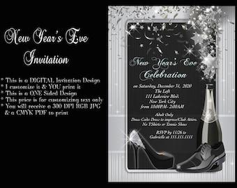 New Years, New Years eve invitation, new years invitation, Año Nuevo, Invitation, New Years Eve, New Years Party, New Years Eve Party