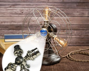 Fan Lamp Kit | DIY Kit | Candelabra | How To | Lamp Parts | Lamp Supplies | Guide | Parts | Tutorial Fan Lamp | Chrome