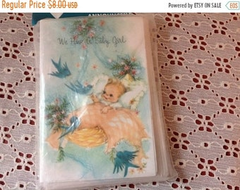 On Sale Vintage Baby Announcement Cards 12 Cards and Envelopes In Original Package NOS