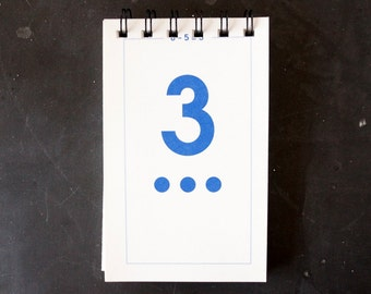 Vintage Flash Card Notebook, Number 3 (50 various pages) - Perfect for To-Do Lists, Shopping Lists, and Big Ideas