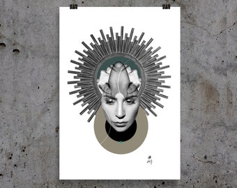 Lady Gaga art, poster, graphic print, collage, matte, premium quality paper, various sizes and shapes.