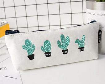 Pencil Pouch - Pencil Case - Planner Pouch - Purse - Wallet - Cactus Design