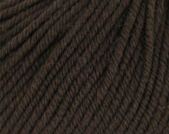 Grignasco Knits Merinogold DK Yarn, 100% Extra Fine New Merino Wool, Discontinued, Color - 173/Dark Brown