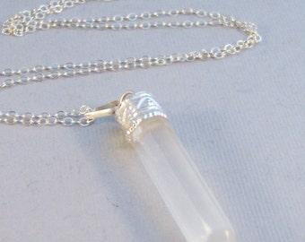 Selenite,Selenite Neckalce,Selenite Pendant,Selenite Point,Point Necklace,Sterling Silver Necklace,Moon Necklace,Selene,Moon Goddess,
