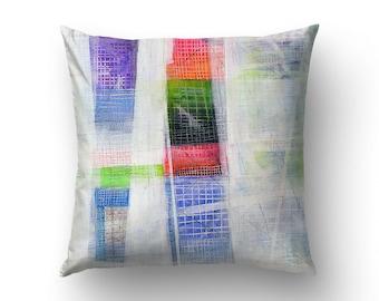 Multicolor Pillows, Abstract Art Pillow, Pillow Covers 26x26, Pillow Cases 20x20, Abstract Pillows. MS037