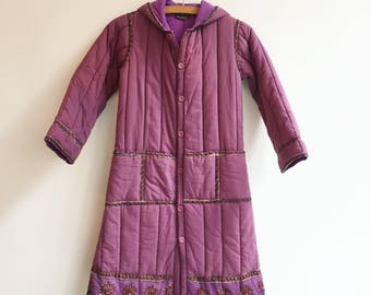 Vintage deadstock kids clothing indian cotton quilted coat jacket girls