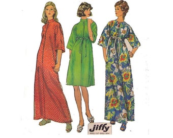 Simplicity 6048, 70s Sewing Pattern, Misses' and Women's Jiffy Robe in Two Length, Size Medium, 12-14.