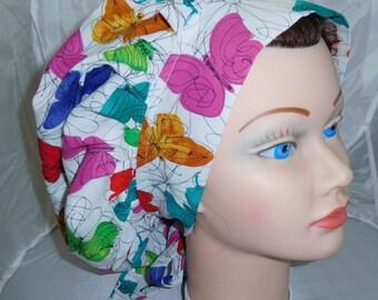Bouffant Surgical Scrub Hat Butterflies