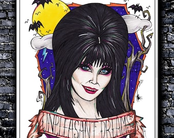 Unpleasant Dreams - A5/A4/A3 Signed Art Print (Inspired by Elvira)