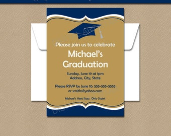 Graduation Invitation, High School Graduation Invitation, College Graduation Invitation, INSTANT DOWNLOAD Template, Class Reunion Idea G1