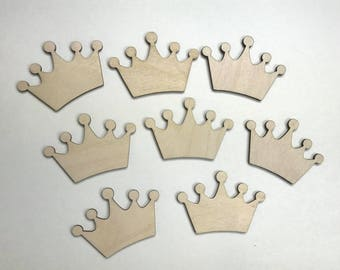 Princess Crown cutouts Crown cutouts Party crafts  Princess Party cutouts Wooden Cutouts Crown shapes Crown Blanks  Crown cutouts