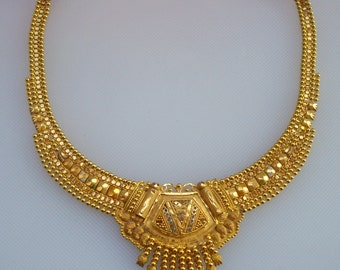 traditional design 20k gold necklace choker handmade belly dance jewelry